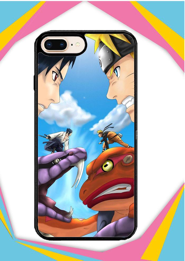 Casing iPhone 7 Custom Hardcase sasuke uchiha vs naruto uzumaki final battle Z0687 Case Cover