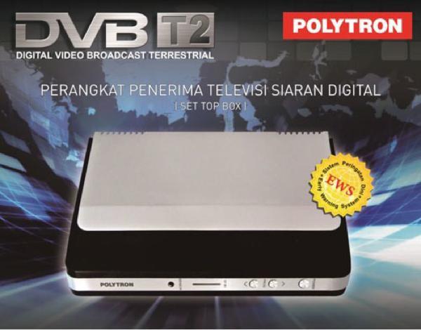 Original Set Top Box Polytron DVB T2 Digital TV Receiver