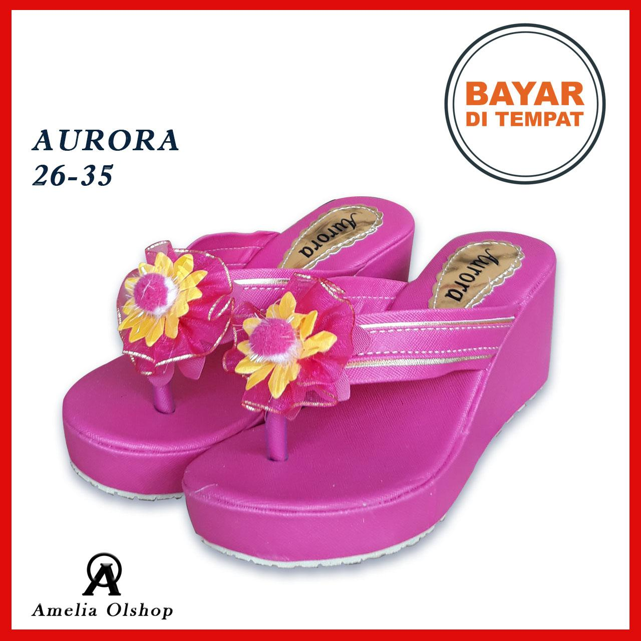 Buy Sell Cheapest Sandal Santai Wedges Best Quality Product Deals Zr01 Tan Amelia Olshop Aurora 26 35 Jinjit Anak Cewek