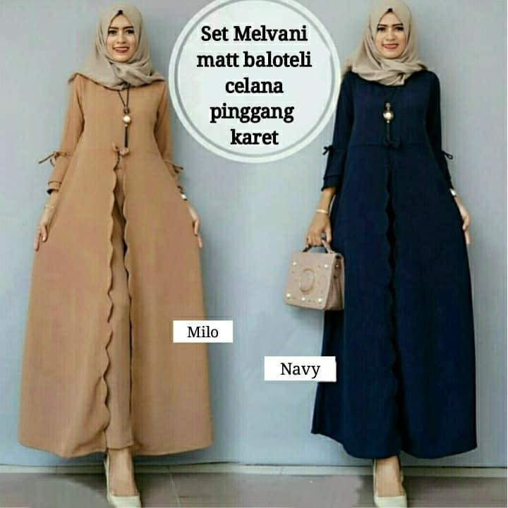 baju gamis/muslim wanita kiss olshop fashion model terbaru high quality