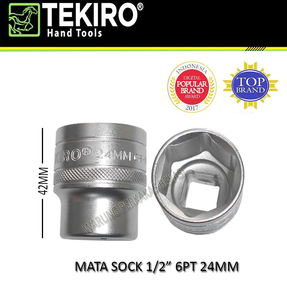 Tekiro Mata Kunci Sock Socket Sok 0.5 Inc 6pt 24mm 24 Mm 1pcs By Warung Perkakas Bekasi.