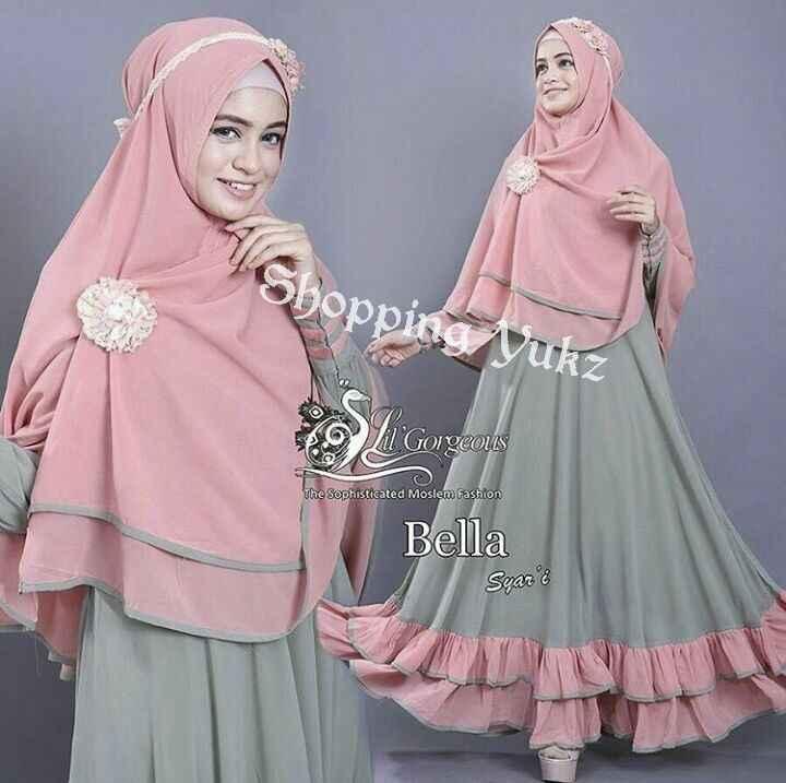Shopping Yukz Baju Gamis Maxi Dress Muslim Wanita Syari 2in1 BELLA HIJAU - SALEM ( Dapat Jilbab ) / Dress Muslim / Gamis Wanita / Baju Muslim / Hijab Muslim / Fashion Muslim / Syar'i Muslim / Maxi Dress Lengan Panjang / Gamis Modern