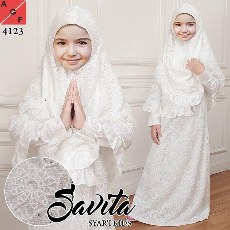 Gamis Brokat Anak Untuk lebaran dan Manasik Haji (uk.10 brokat glitter)
