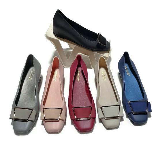 Flat Shoes Bara Bara - Sepatu Balet Jelly Wanita Aksen Terbaru 1812PG