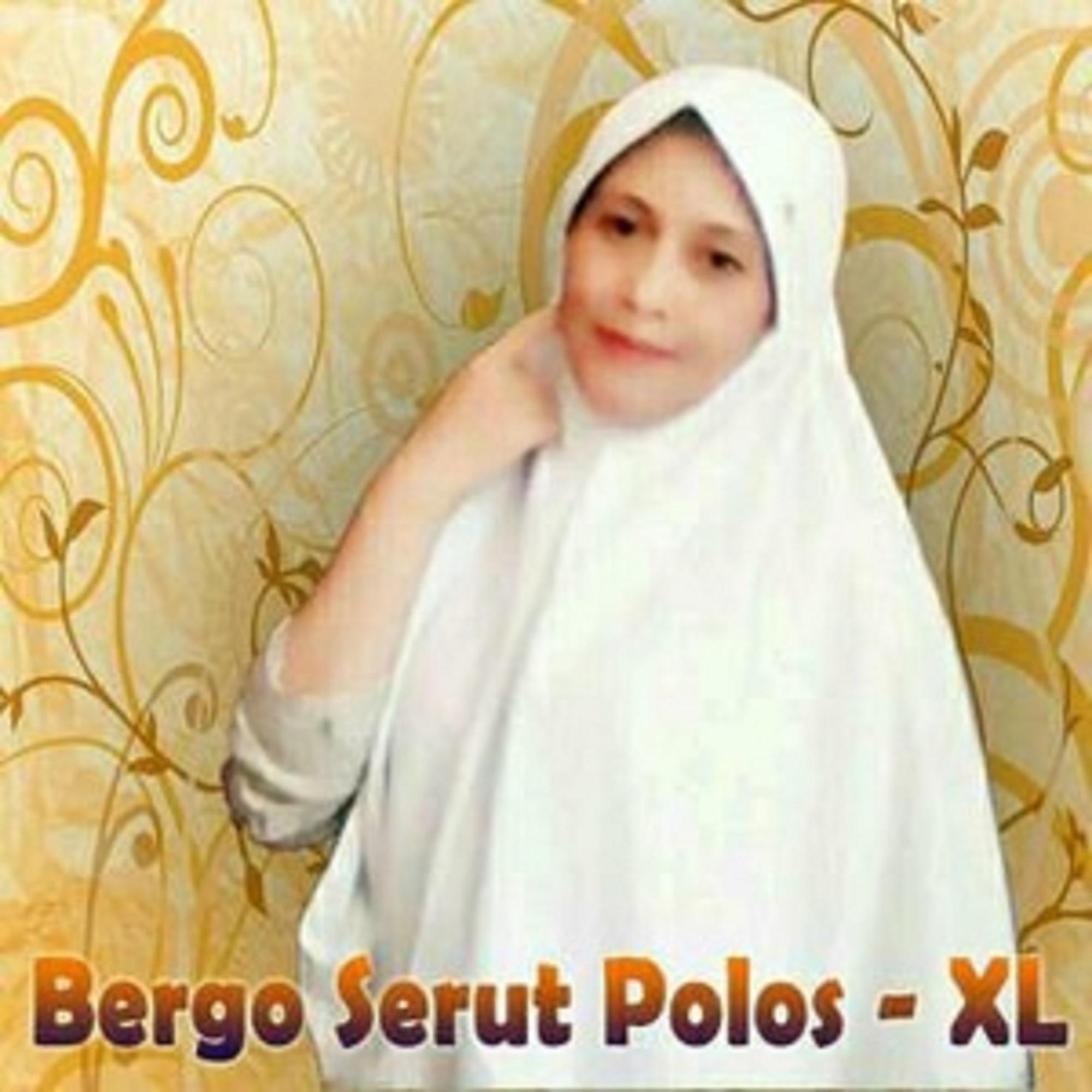 Kerudung Jilbab Instan Bergo Serut Polos Anak Sekolah SMP SMA