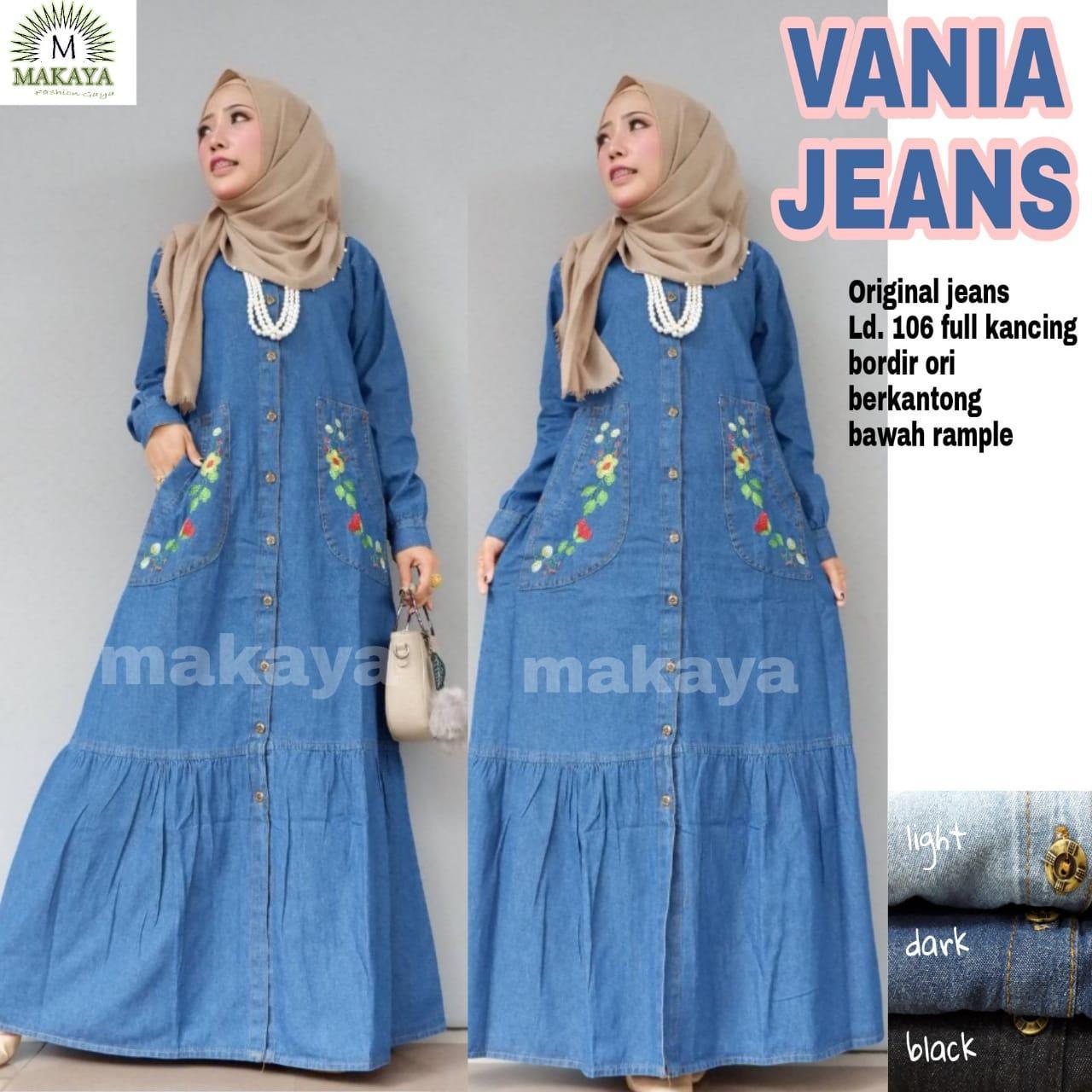 Gamis Jeans Vania - Baju Muslim - Maxy Dress - Gamis Jeans Wash - Gamis  Model 5cbd16abef