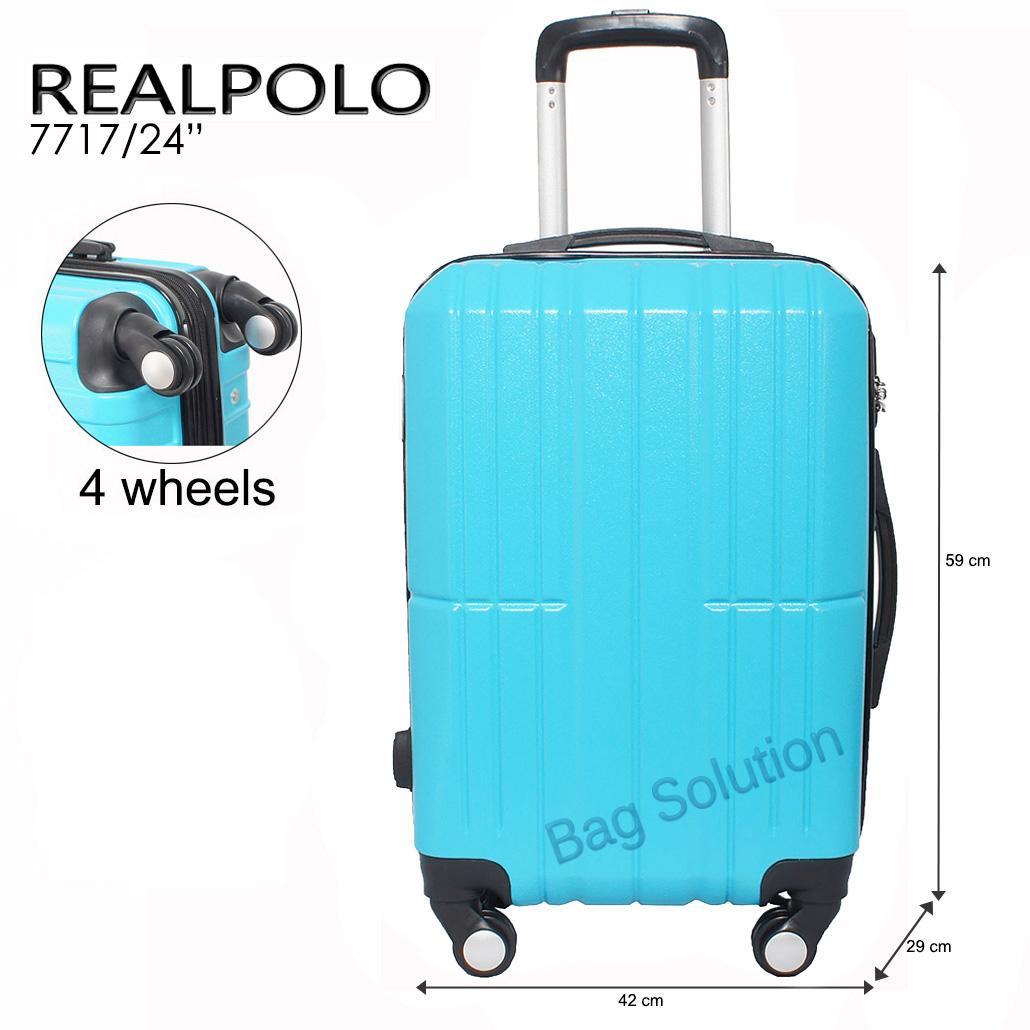Koper Polo Expley Hardcase Luggage 20 Inchi 802-20 Waterproof Coffee Real Polo Tas Koper Hardcase Fiber ABS - 4 Roda Putar - GGAG Size 24 Inch