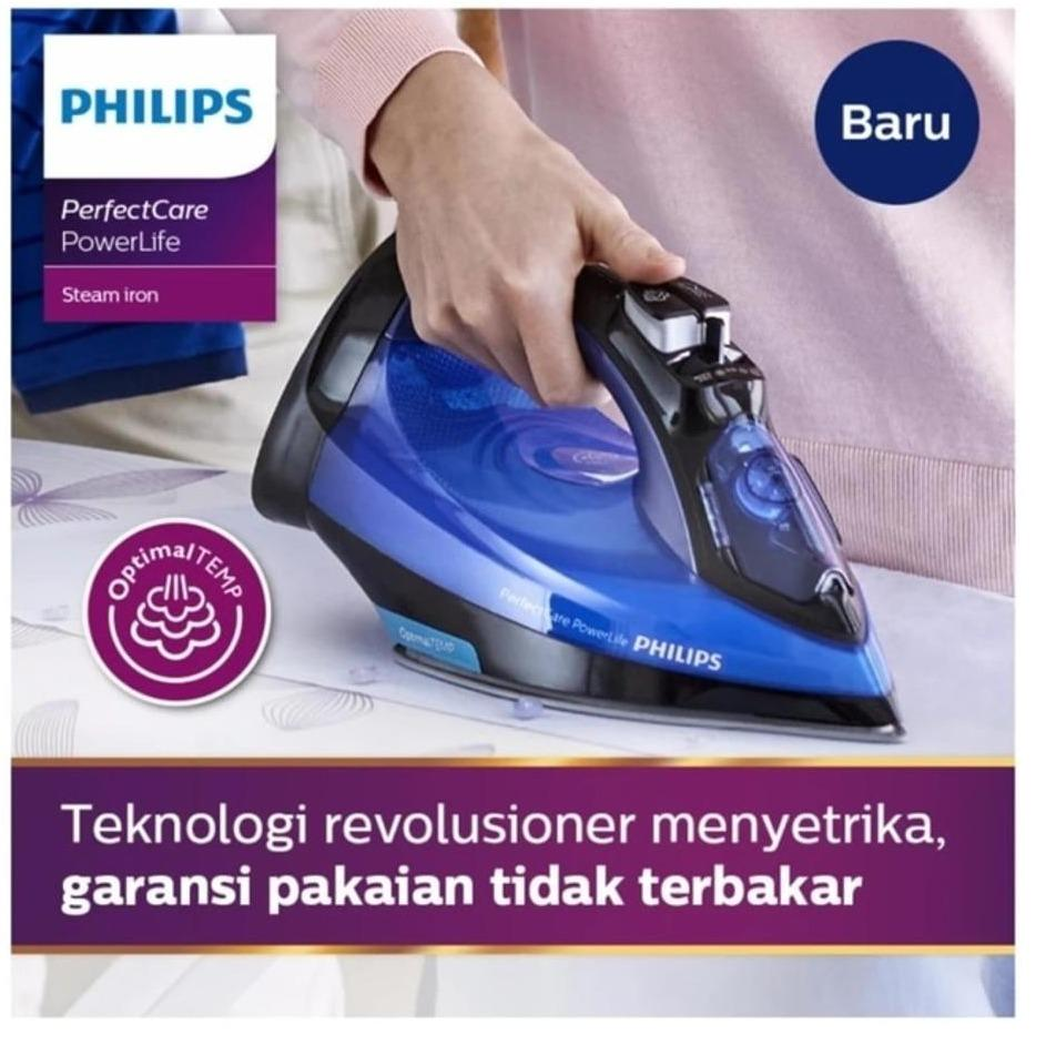 PHILIPS Setrika Uap Optimal Temp - GC3920 [Smart Iron]