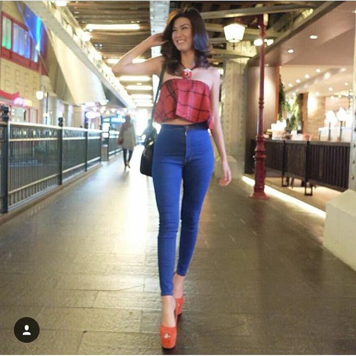 JHF - Jeans wanita HW Electrik blue