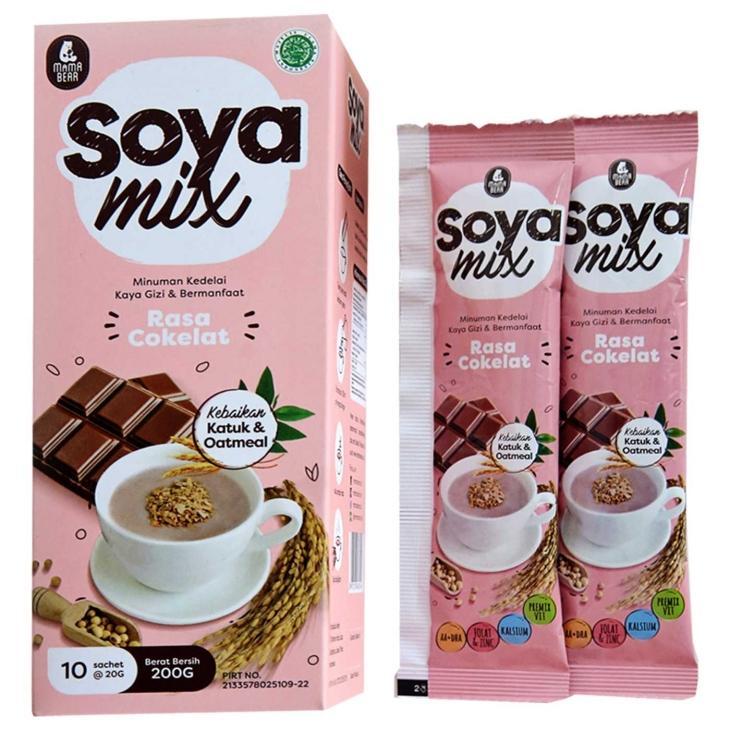 Mamabear Soya Mix Cereal Pelancar ASI Booster Menyusui - Rasa Coklat