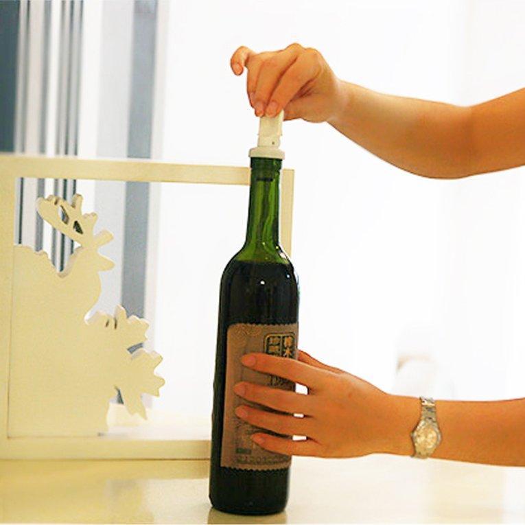 Jiehaosheng Estore Plastik Putih 3 Pcs Reusable Tutup Botol Atas Tutup Vakum Disegel Anggur Penutup Botol