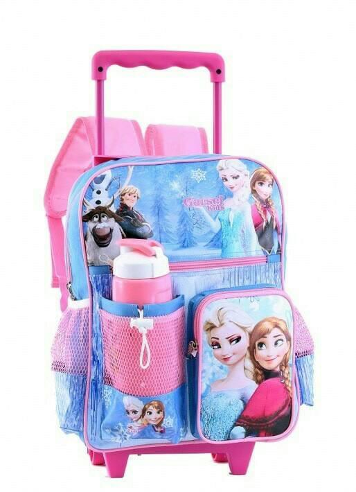Potongan Harga tas anak perempuan / tas trolly roda troli dorong / tas ransel garsel