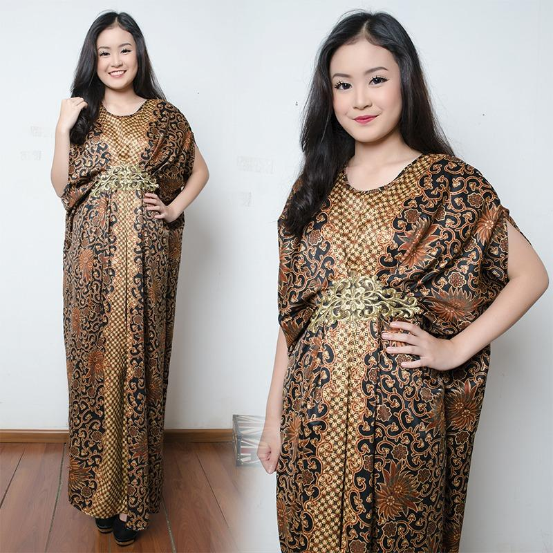 SB Collection Dress Maxi Aila Longdress Kaftan Gamis Jumbo Batik Wanita