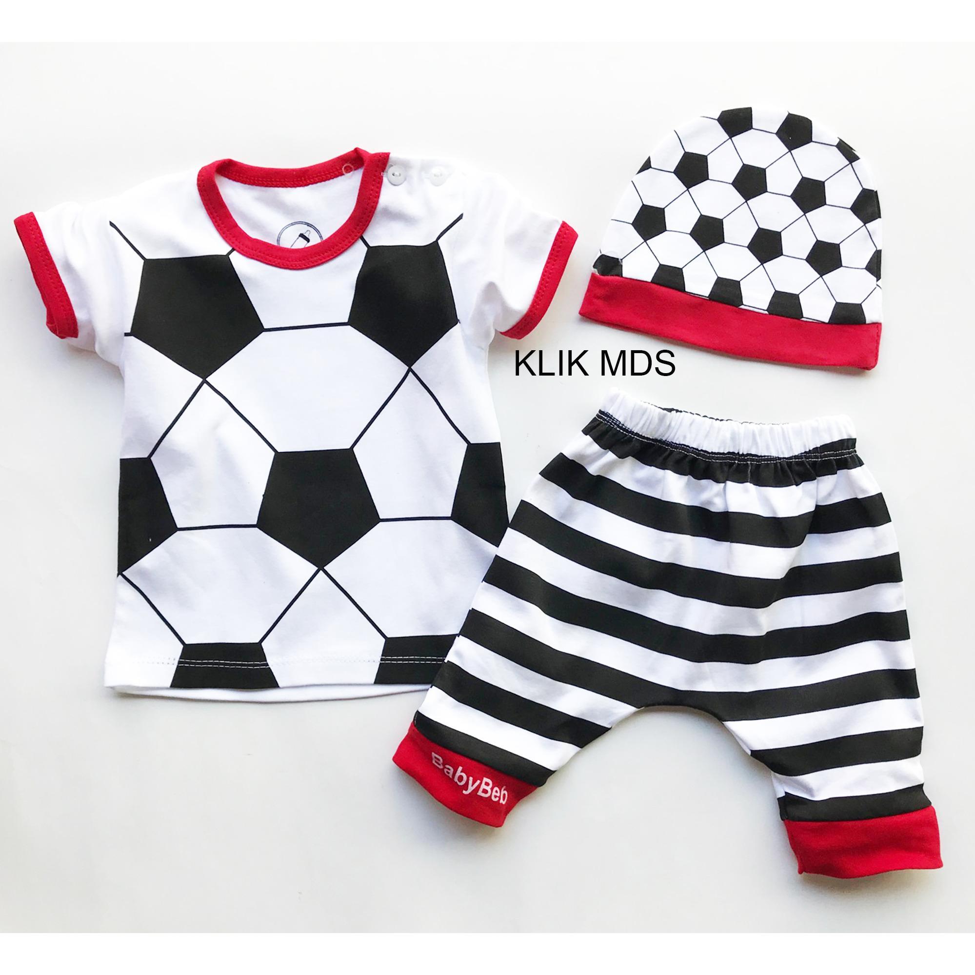 Klik Mds Baju Anak Setelan Atasan Dan Celana Motif Karakter Bola Free Topi By Klik Mds.