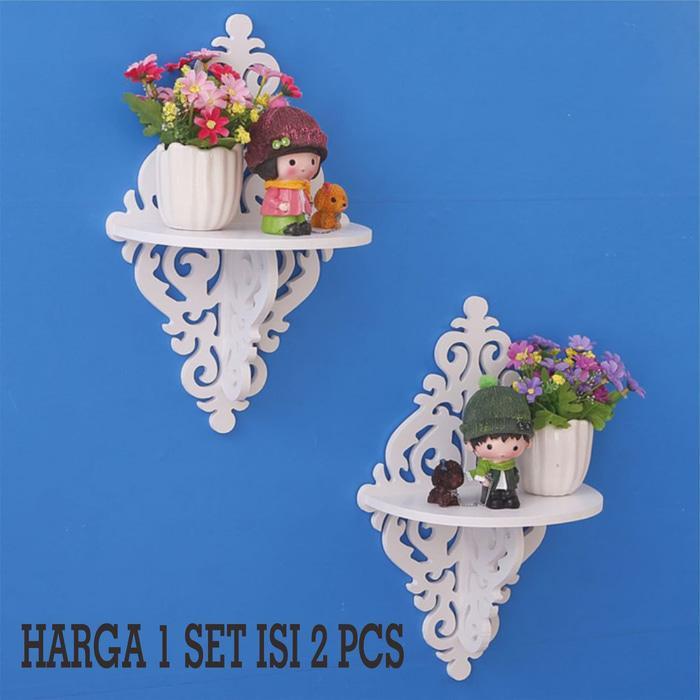 Decorative Rack rak Shabby chic vintage (1set isi 2) KECIL A537