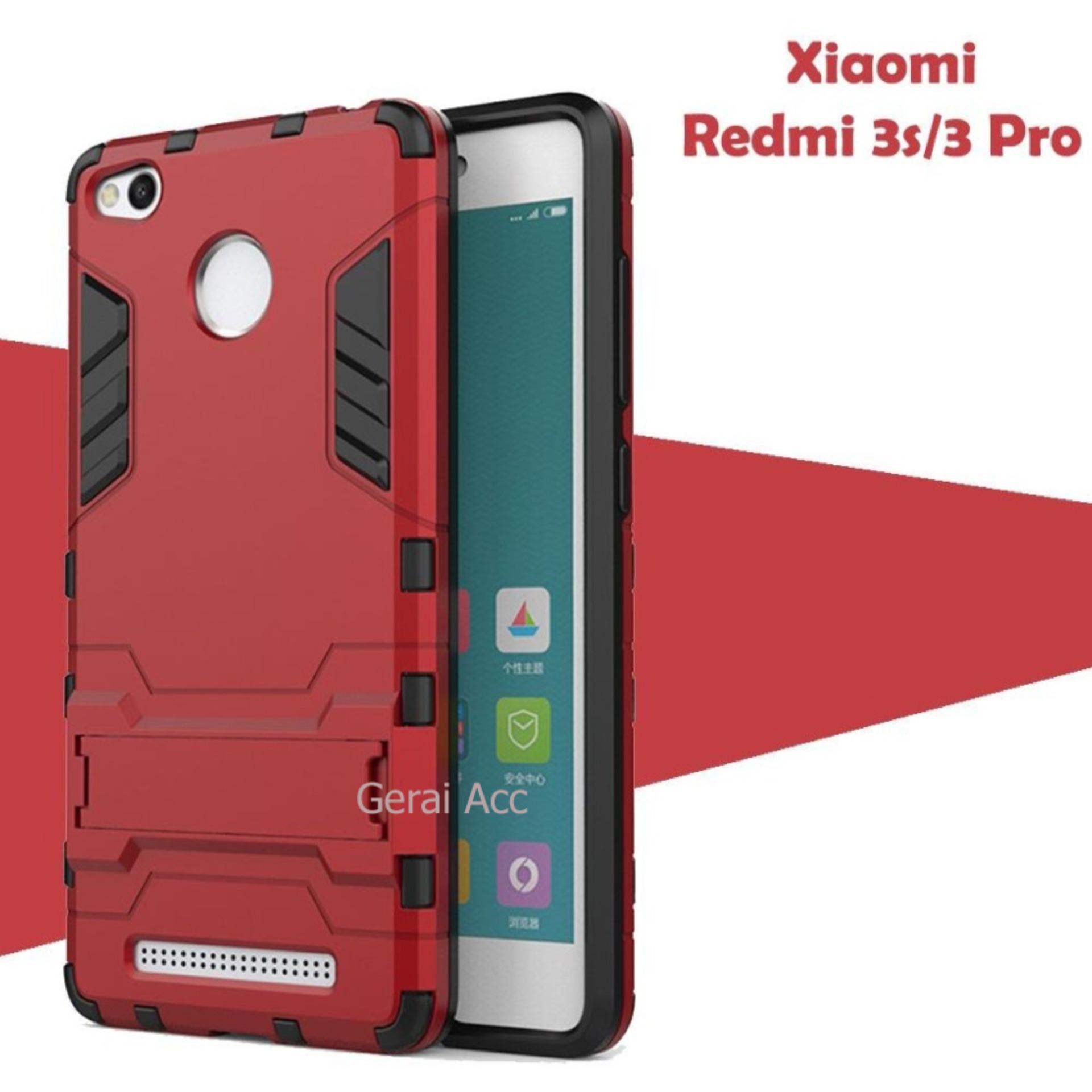 Case For Xiaomi Redmi 3s / 3 Pro / 3 Prime Iron Man Transformer Kickstand - Red