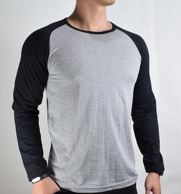 Baju Kaos Polos Tangan Lengan Panjang BLACK SOLID Hitam Bandung Pria Source · Kaos polos pria Baju Pria Kaos reglan Kaos panjang Kaos lengan panjang