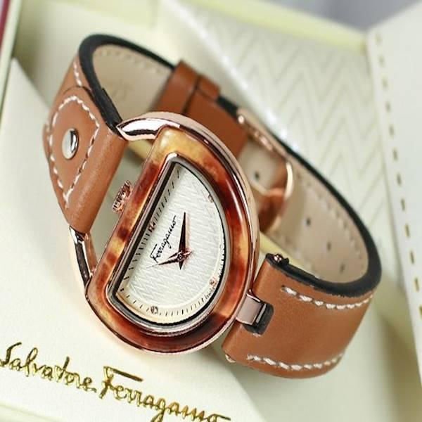 Ferragamo Leather Dark Brown
