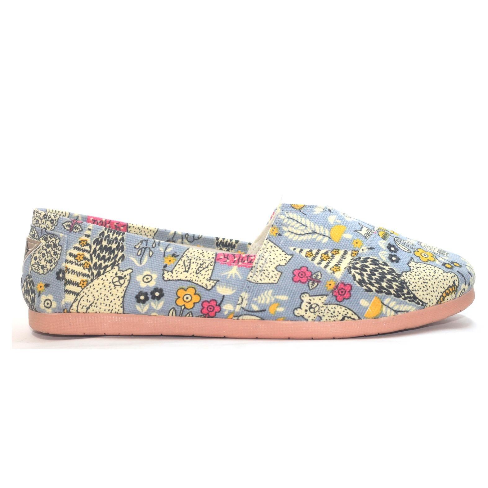 JRC sepatu wanita flatshoes slipon motif cartoon bear model toms / wakai