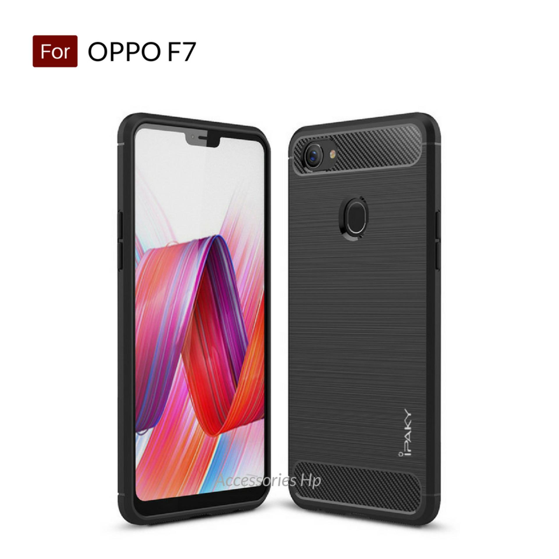 Accessories HP Premium Quality Carbon Shockproof Hybrid Case For Oppo F7 - Black