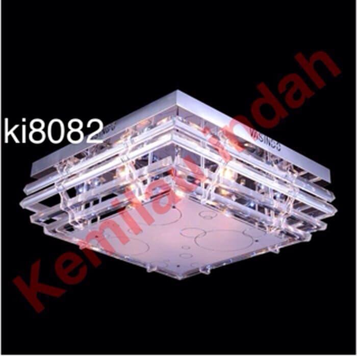 LAMPU HIAS PLAFON LED BOHLAM CRYSTAL E27 DINDING KI8082 3WARNA GANTUNG