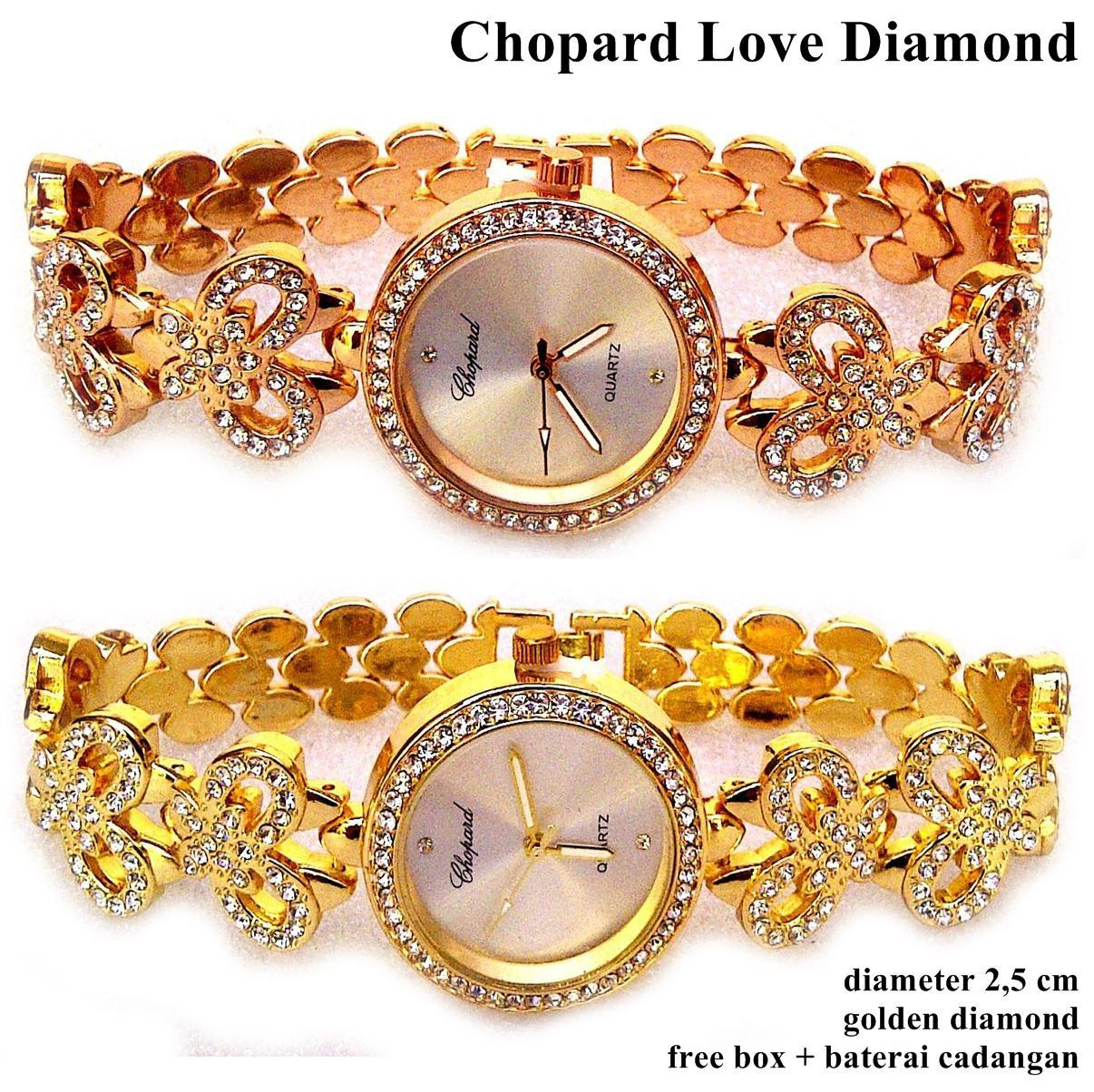 Jam tangan wanita chopard love diamond