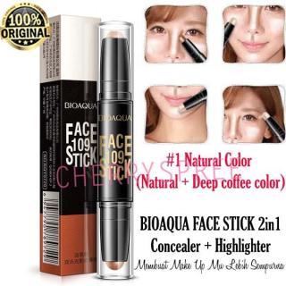Bioaqua Face Stick 109 Concealer Highlighter Bronzer Membuat Make Up Lebih Sempurna 3D Face Makeup Contouring Face - 1pc thumbnail