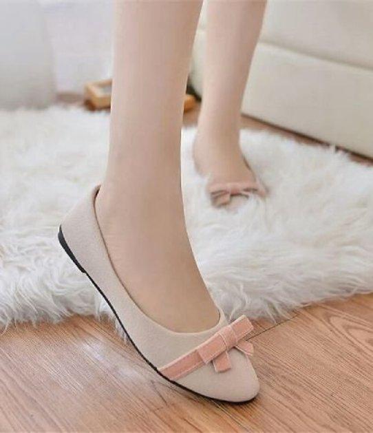 Sepatu Flat Balerina Pita Cantik-3640