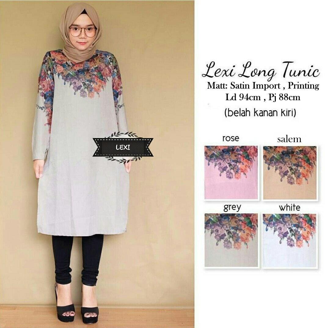 Baju Atasan Wanita - Tunik - Baju Muslim - Blus Muslim - Cleo Tunika. Source