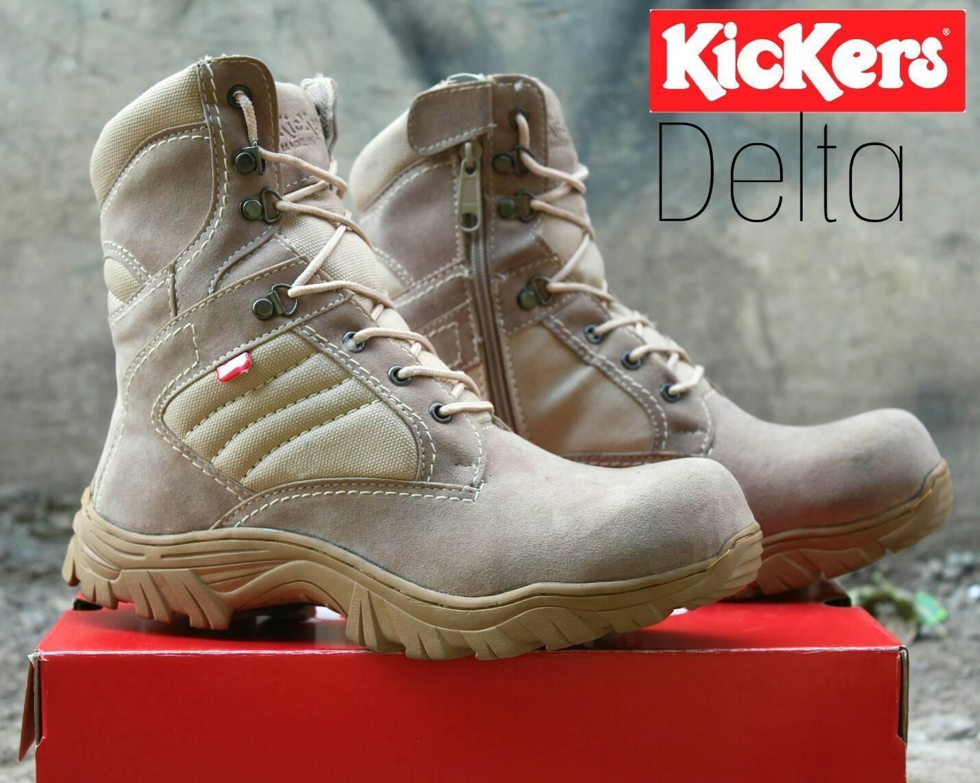 Sepatu Delta Boots Safety Kickers Tracking Hiking Gunung Kerja Proyek Olahraga running Jogging Lari Senam Sekolah AnaK nike adidas Boots Casual Sneakers Formal  Safety Shoes PDL PDH Kerja Lapangan