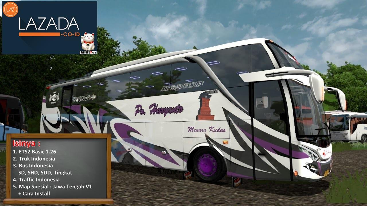 ETS2 1.26 Game Bus dan Truk Simulator Indonesia Spesial Map Jawa Tengah V1