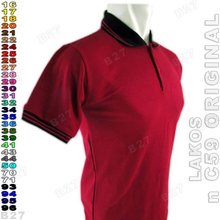 C59 Original K2-24 Kaos Polo Shirt Cowok Lacost Polos Maroon