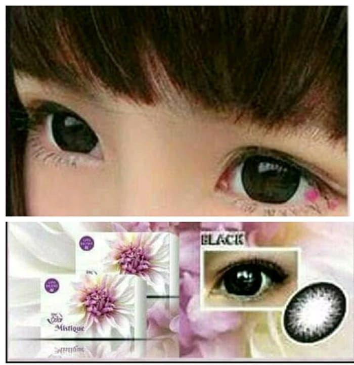 SALE - Softlens MISTIQUE BLACK dan GREY 16mm