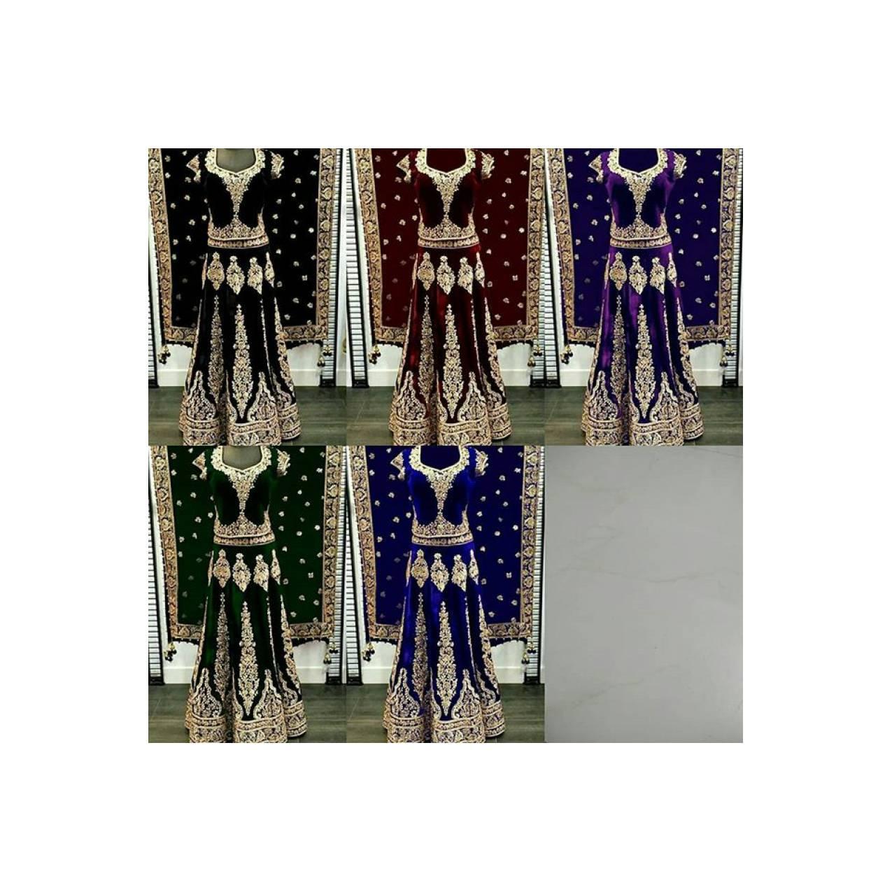 Bridal Anarkali DN37 /Gaun Muslim/Gamis Pesta/Pengantin Muslim India
