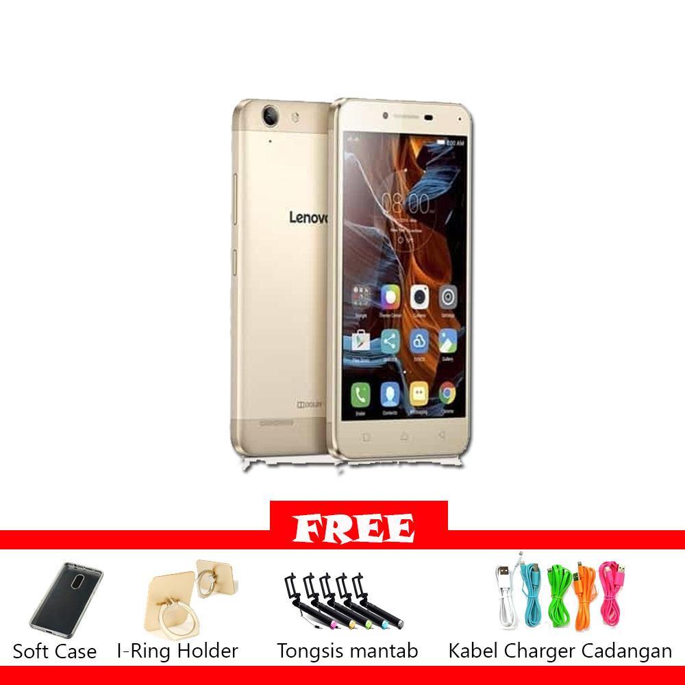 Lenovo Vibe K5 Plus - 4G/LTE - RAM 3GB - 16GB - GOLD Free Banyak Bonus
