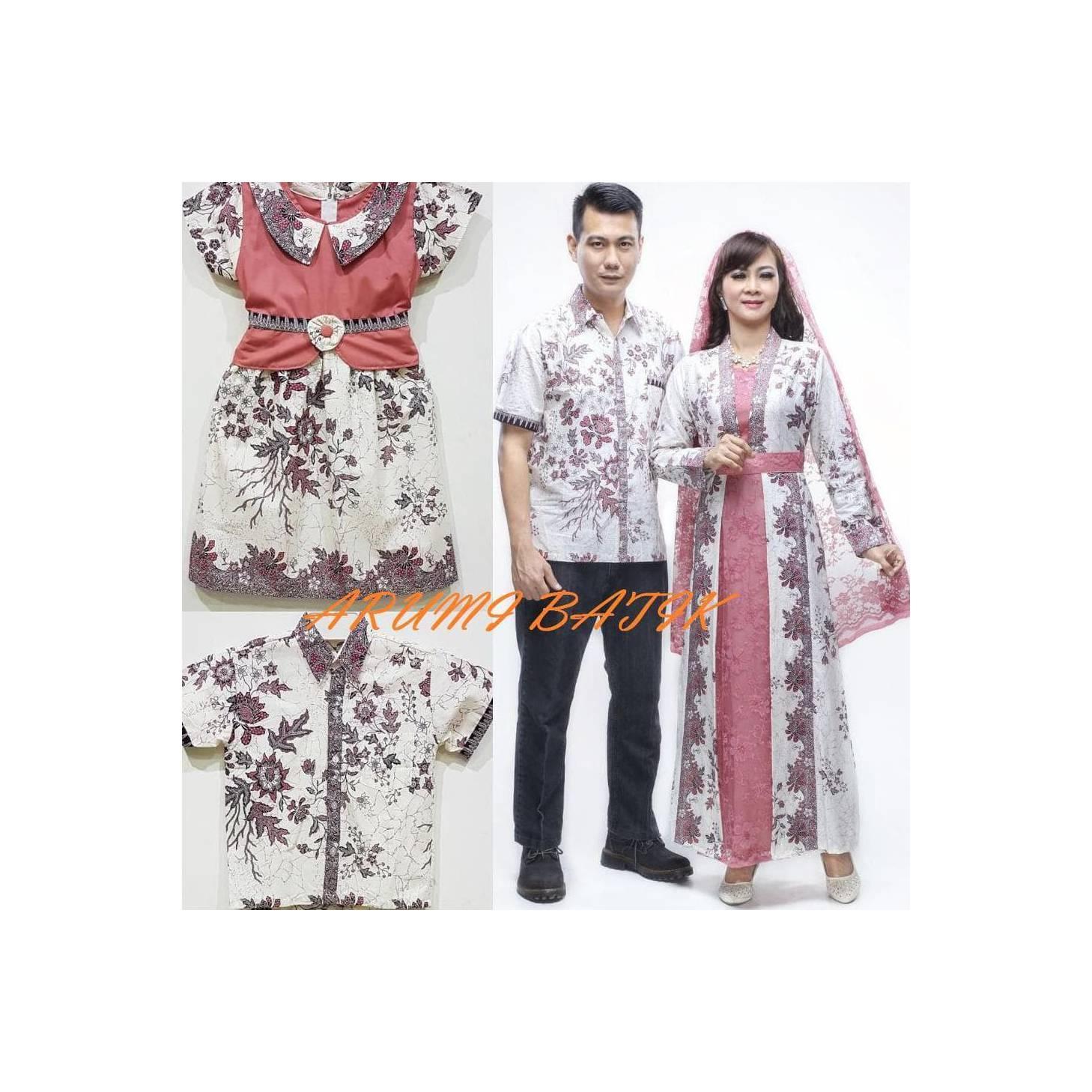Murah Gamis Baju Muslim Long Maxi Dress Batik 1601 Fanta Big Size