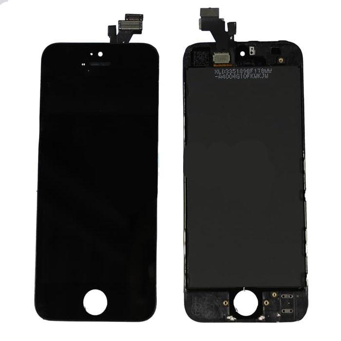 LCD IPHONE 5S   / IPHONE 5S + TOUCHSCREEN + FRAME FULLSETT ORI - Hitam