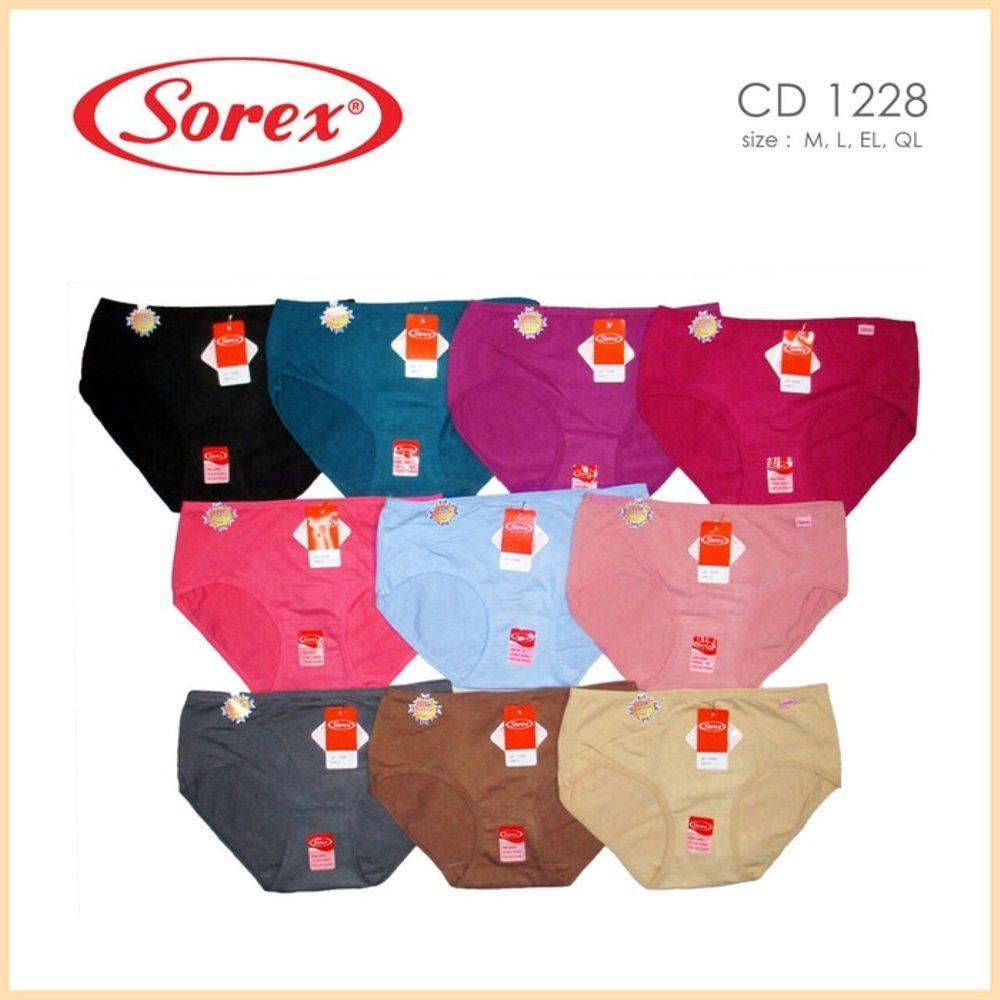 Sorex Fine Cotton 6 Pcs Celana Dalam Wanita Type 0730 Size L Xl Xxl Flower 76503 1228 M El