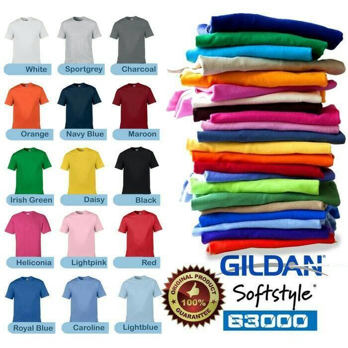 Kaos Gildan Polos Softstyle 63000 JAKARTA - Ngdz3x