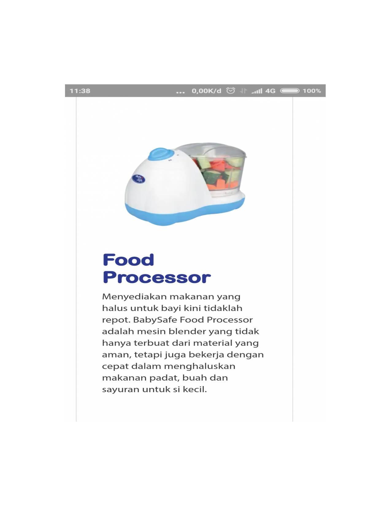 Baby Safe Smart Food Processor Bsw002 Cek Harga Terkini Dan Maker Babysafe Steam Blender Prosesor Lb 609