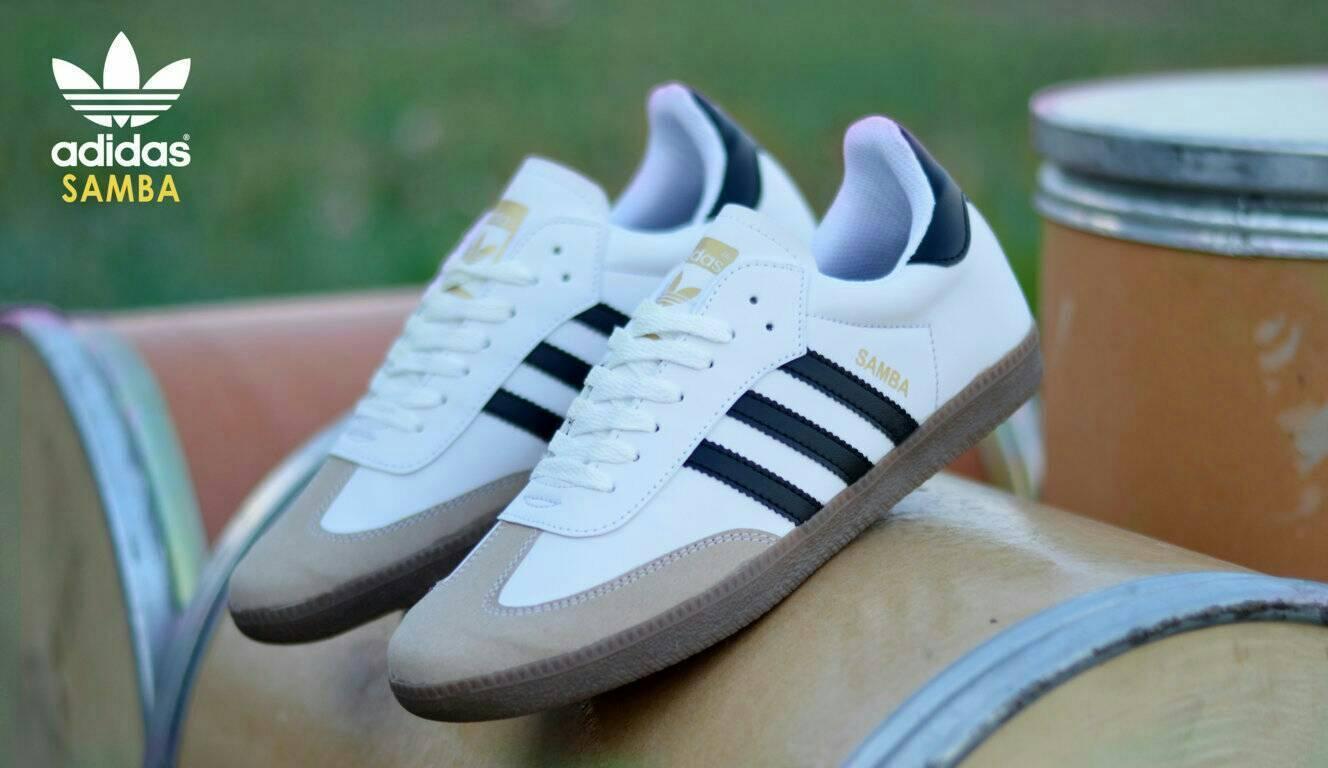 sepatu casual sneakers adidas samba fashion pria import murah