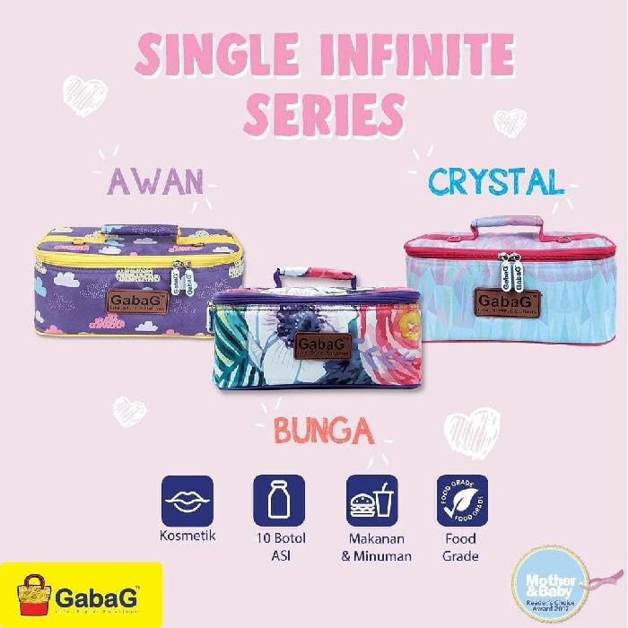 GabaG Cooler Bag Single Infinite Series (Awan, Bunga, Crystal)