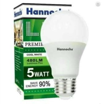 Pencarian Termurah HANNOCHS LAMPU LED PREMIER 5W / BOLA LAMPU HANNOCHS 5 WATT sale - Hanya Rp16.235