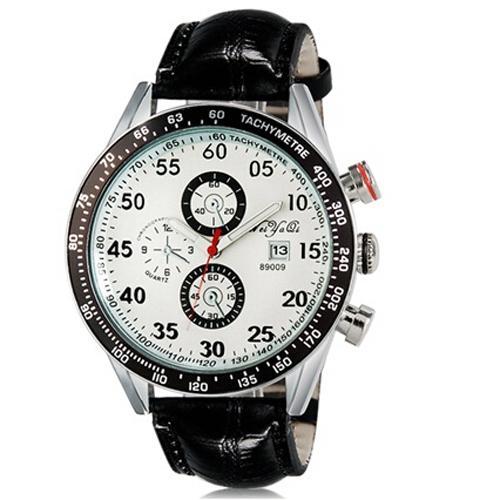 Ormano Jam Tangan Pria Franco Maskulin Watch Strap Leather - Putih