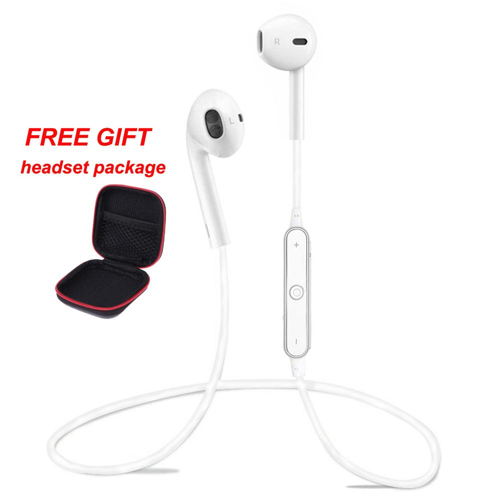 Nirkabel Bluetooth 4.1 Earphone dan Earpiece Stereo Musik Olahraga Menjalankan Earset Ecouteur dengan MIC untuk Ponsel Pintar-Intl