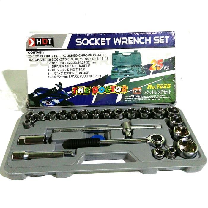 Hemat 10%!! Kunci Sok Set 25 Pcs Merk Hioshi - ready stock