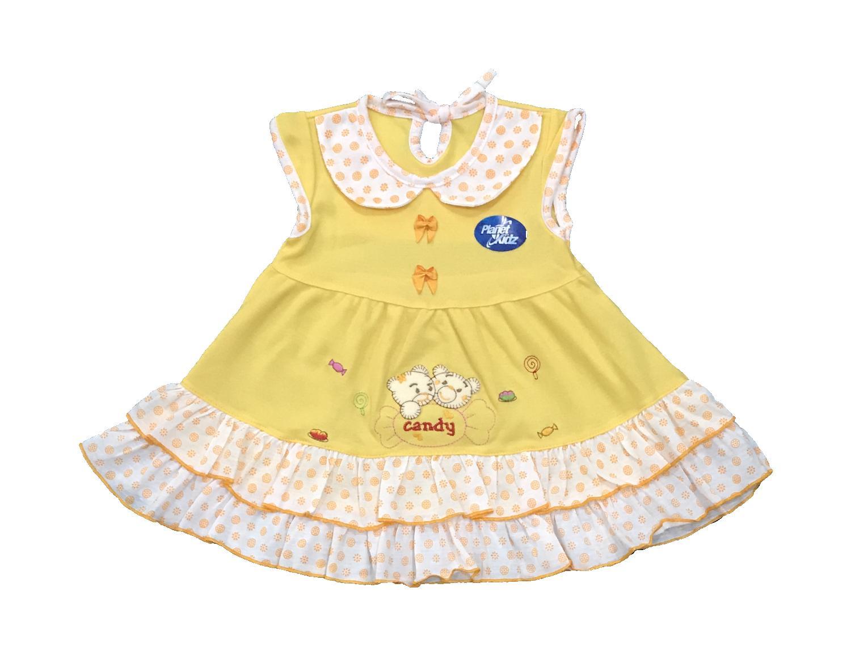 BAYIe - Baju bayi Perempuan Dress motif CANDY 2 BEAR PLANET KIDS usia 0-12 bulan / Pakaian anak Cewek