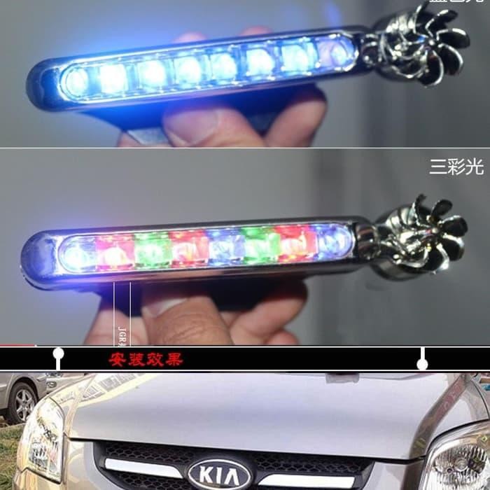 Fog lamp mobil LED tenaga angin tanpa kabel (isi 2pcs)   ( lampu  mobil hid plafon depan rem sorot led h4 kabut fog lamp tembak variasi strobo rem toyota innova hid avanza osram )
