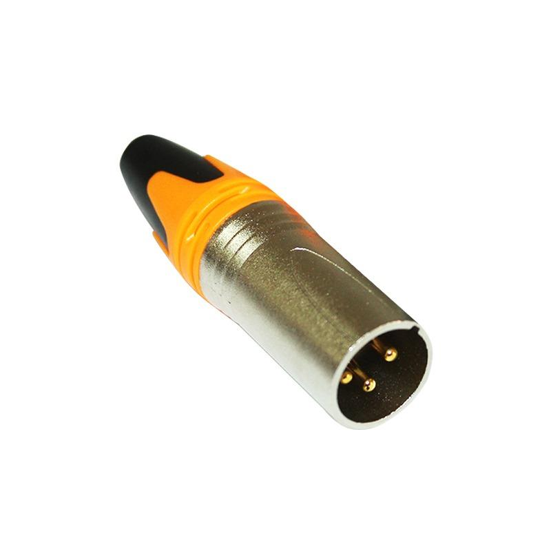 EELIC AUC-A158G ORANGE AUDIO CONNECTOR MALE CONNECTOR XLR 3 PIN