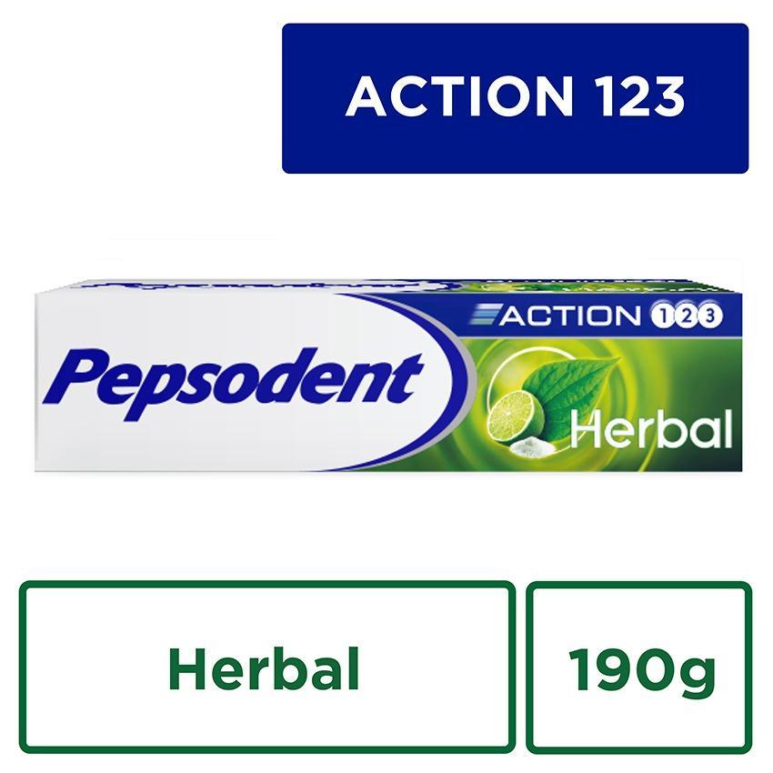 Pepsodent Action 123 Pasta Gigi Herbal 190G